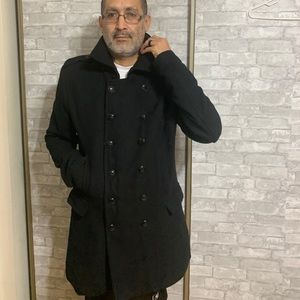 Parasuco black wool coat